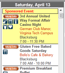 Sponsored Event Example