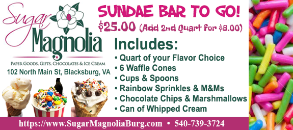 Sugar Magnolia's Sundae Bar To Go